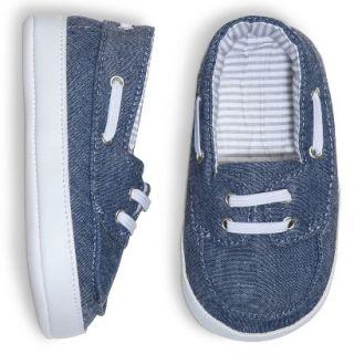 Cherokee Infant Toddler Girls Chambray Deck Shoe   Blue 0 3 M