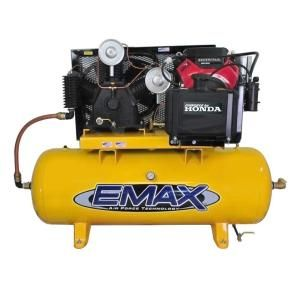 EMAX 120 Gal. 24 HP Gas Horizontal Air Compressor with Honda Engine EGES24120T