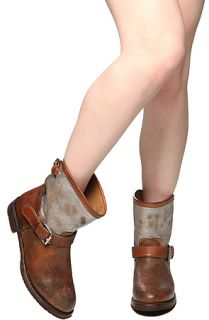 Ash Shoes Boot Sharon in Tobacco and Silver