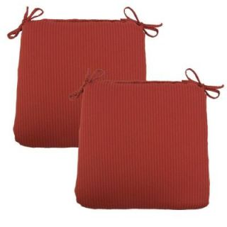 Hampton Bay Chili Solid Outdoor Chair Cushion (2 Pack) 7348 02002600