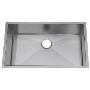 Frigidaire Gallery Undermount Stainless Steel 31 1/2x18 1/2x9 0 Hole Single Bowl Kitchen Sink FGUR3219 D9