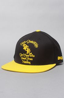 DGK The From Nothing Snapback Cap in Black Yellow