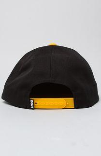DGK The Hunger Snapback Cap in Black Yellow