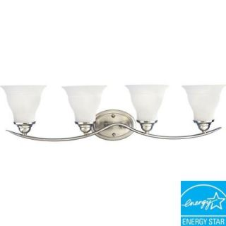 progress lighting trinity collection 1 light brushed nickel bath