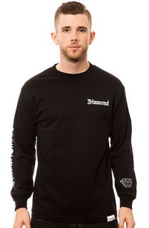 Diamond Supply Co. Tee Diamond 4 Life LS Crew in Black