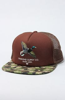 Diamond Supply Co. The Game Assn. Duck Mesh Trucker Hat in Chocolate & Camo
