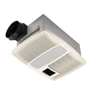 Broan Ultra Silent 110 CFM Ceiling Bath Fan with Light and Heater QTX110HL