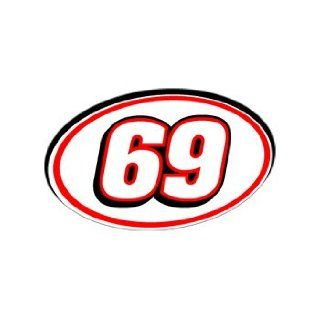 69 Number   Jersey Racing Window Bumper Sticker Automotive