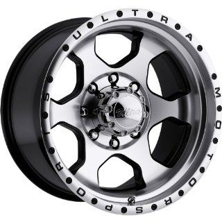 Ultra Rogue 16 Machined Black Wheel / Rim 8x6.5 with a  6mm Offset and a 130 Hub Bore. Partnumber 175 6881U: Automotive