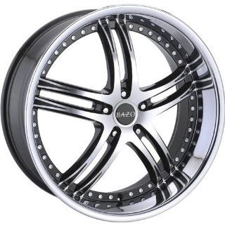 Bazo B502 22 Machined Black Wheel / Rim 5x115 with a 18mm Offset and a 73.00 Hub Bore. Partnumber B502 2295511518BS: Automotive