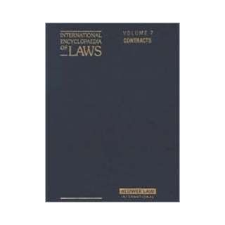 International Encyclopaedia of Laws Contracts (8 Volume Set) Jacques H. Herbots, Prof.Dr Roger Blanpain 9789065449412 Books