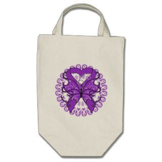 Lupus Butterfly Circle of Ribbons Tote Bag