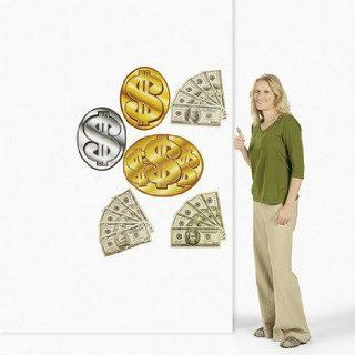 6 Money/Dollar Sign Cutouts   Theme Parties & Casino Night: Health & Personal Care
