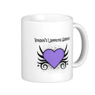 Hodgkin's Disease Warrior Heart Tattoo Mugs