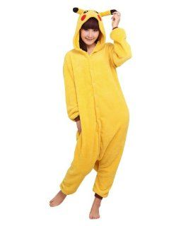Frau Pokemon Pikachu Schlafanzug Erwachsene Anime Cosplay Halloween Kostüm Größe M (160CM 165CM): Spielzeug