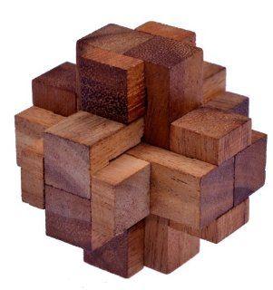 Teufelsknoten G173   3D Puzzle   Denkspiel   Knobelspiel   Geduldspiel aus Holz Spielzeug