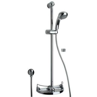 La Toscana Slide Bar Kit with Shower Head and Soap Holder in Chrome 50CR124EX