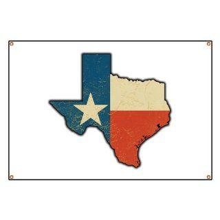 Banner Texas Flag Texas Shaped