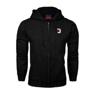Davidson Champion Black Fleece Full Zip Hood 'D'  Sports Fan Sweatshirts  Sports & Outdoors
