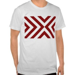 Red and White Chevrons Tee Shirts