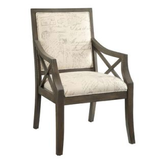 Crestview Driftwood French Script X Arm Chair CVFZR681