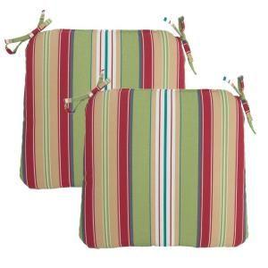 Hampton Bay Lancaster Stripe Outdoor Chair Cushion (2 Pack) 7348 02001200
