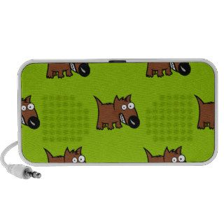 Cute Angry Cartoon Dog Portable Speakers