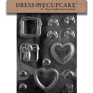 Dress My Cupcake DMCM186 Chocolate Candy Mold, Heart/Present Pour Box Kitchen & Dining