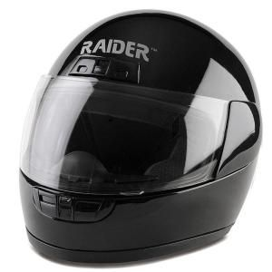 Raider Small Youth Black Full Face Street Helmet 26 622K S