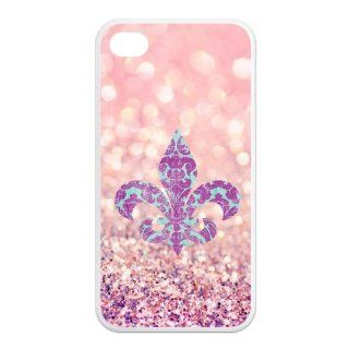 Custom Colorful Fleur De Lis Printed Back Cover for Iphone 4/4S Case & Beautiful Fleur De Lis Iphone TPU Case at sosweetycats store Computers & Accessories
