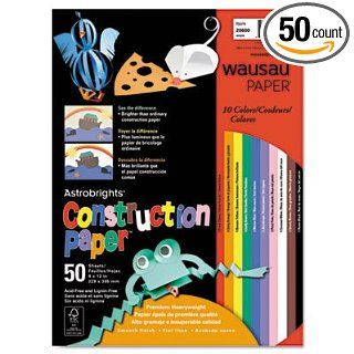 Neenah Paper Astrobrights Construction Paper, 72 lb., 9 x 12, Assorted, 50 Sheets/Pack: Industrial & Scientific