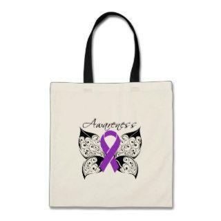 Tattoo Butterfly Awareness   Alzheimer's Disease Bags