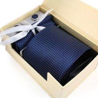 TopTie Mens Polka Dots Necktie Set, Tie & Handkerchief & Cufflinks, Gift Idea at  Men�s Clothing store