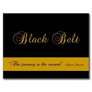 Martial Arts Black Belt Congratulations Postcard