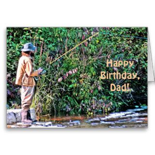 "FISHERMAN  ""HAPPY BIRTHDAY, DAD"" (PHOTOG) GREETING CARDS"