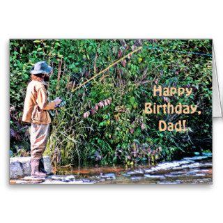 "FISHERMAN  ""HAPPY BIRTHDAY, DAD"" (PHOTOG) GREETING CARDS"