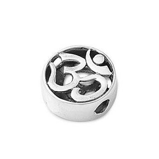 Sterling Silver Small Om, Aum, Ohm Symbol Pendant   High Polish: Jewelry