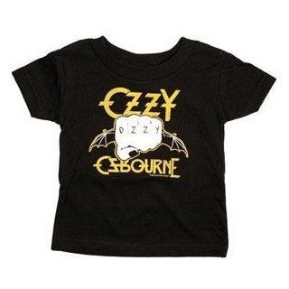 Ozzy Osbourne   Toddler T shirt   Fist Logo Holding a Bat with Ozzy Tattooed on Knuckles from Sourpuss Clothing (Medium): Novelty T Shirts: Clothing