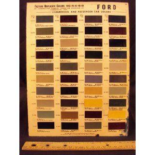 1942, 1946, 1947, 1948, 1949 HUDSON Paint Colors Chip Page Hudson Motor Car Company Books