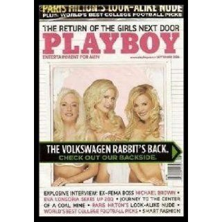 "PLAYBOY MAGAZINE September 2006 Issue Holly Madison, Bridget Marquardt, & Kendra Wilkinson (""The Girls Next Door"") Mr Heffner Books"