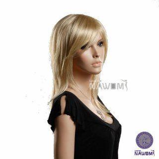 Hot Wig European Women Wig Medium Long Blonde Wig Fashion Hair Style Maker Zl349a 613e  Hairpieces  Beauty