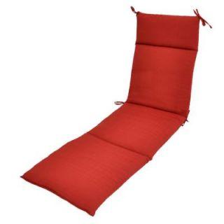 Hampton Bay Geranium Textured Outdoor Chaise Lounge Cushion 7407 01220600
