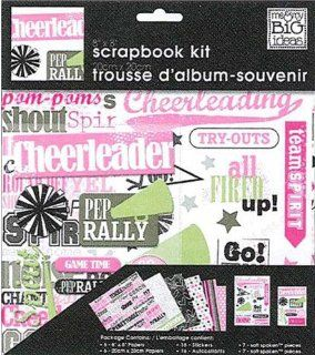 me & my BIG ideas 8 Inch by 8 Inch Scrapbook Page Kit, Cheerleader