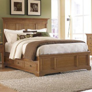 American Drew   Ashby Park Panel Queen Bed W/Storage Sage   901 355Sr   Bedroom Furniture Sets