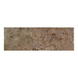Daltile Passaggio Nocino 3 in. x 12 in. Porcelain Bullnose Floor and Wall Tile DISCONTINUED PA33P43C91P1