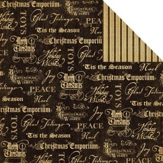 """Joyous Noel Christmas Emporium Double Sided Paper 12""""X12"""" Graphic 45 CE G45 370 Toys & Games"""