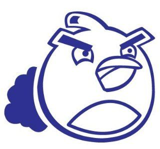 Angry Birds   Bomb Bird   Decal / Sticker   Size: 4.0 x 3.5 inches   Color: Blue: Sports & Outdoors