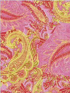 "Decopatch Decoupage Paper Mache Sheet ""Pink Gold Paisley 370"""