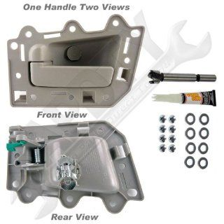 APDTY 93243 Interior Door Handle Kit(Rear, Left Side, Driver Side) All Beige, Beige Housing, Beige Lever, For The 2005 2010 Jeep Grand Cherokee (Allows Door Handle Replacement Without Replacing Door Panel)(Replaces Factory Part Number 1HR371J3AJ): Automoti