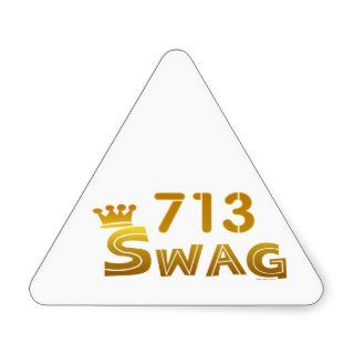 713 Texas Swag Triangle Sticker